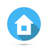 Flat Style Home Icon isolated. Vector illustration